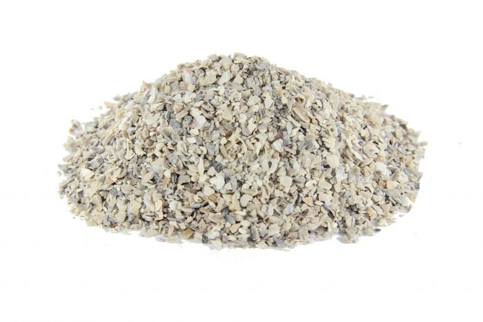 Fine oyster shell for poultry and birds